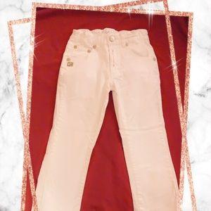 Daniele Alessandrini white cotton jeans